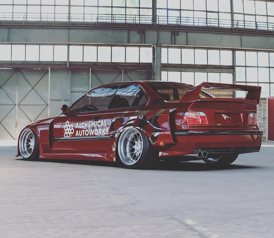 Modified Wide Body BMW E36